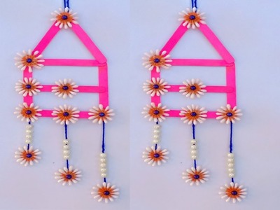 DIY Wall Hanging with Icecream Stick and Cotton Buds Reuse of waste