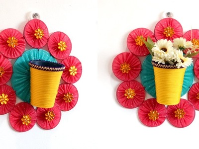 DIY WALL MOUNTED FLOWER VASE from OLD BANGLES