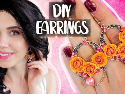 ◖EASY Earrings with Flowers◗ Polymer Clay ◖DIY