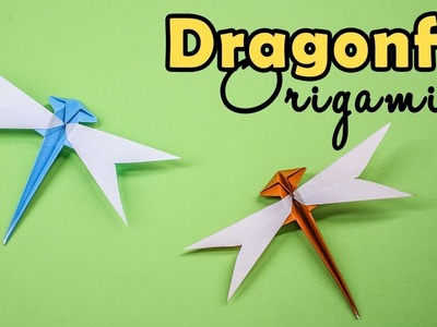 How to make a 3d paper dragonfly (with template) - Papershape | 300x400