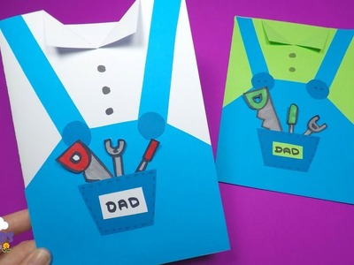 Fathers Day Card Idea | Paper Crafts for Kids