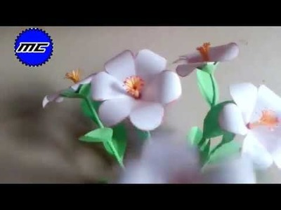 Folding paper to flower | Origami Paper Flower