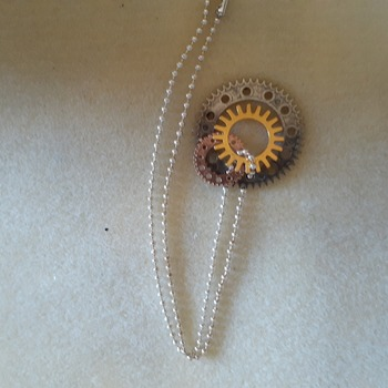 Gears and wheels necklace