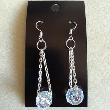 Glass AB dangling earrings