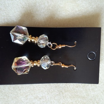 Glass Aurora borealis beaded earrings