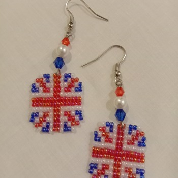 Handmade Octagon United Kingdom Earring