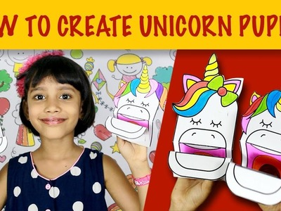 How to create quick paper unicorn puppet