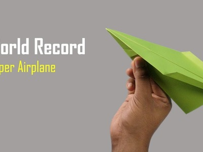 How to Fold The World Record Paper Airplane || How to Make an Origami Airplane Boomerang - Project-1