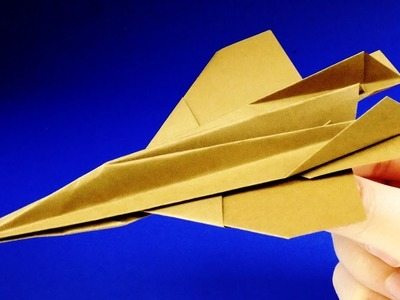 How to make a paper airplane - Paper JET FIGHTER that FLIES  F-16 Falcon