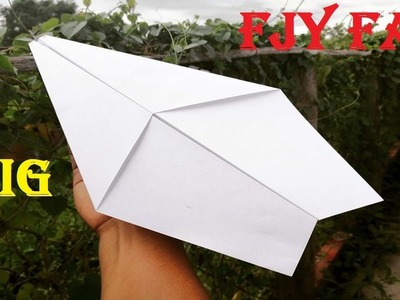 How To Make A Paper Airplane ( Paper A3 Sheet ) | Origami Big and Fly Far Airplane Paper