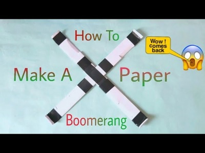 How To Make A Paper Boomerang . Sk Jeet .
