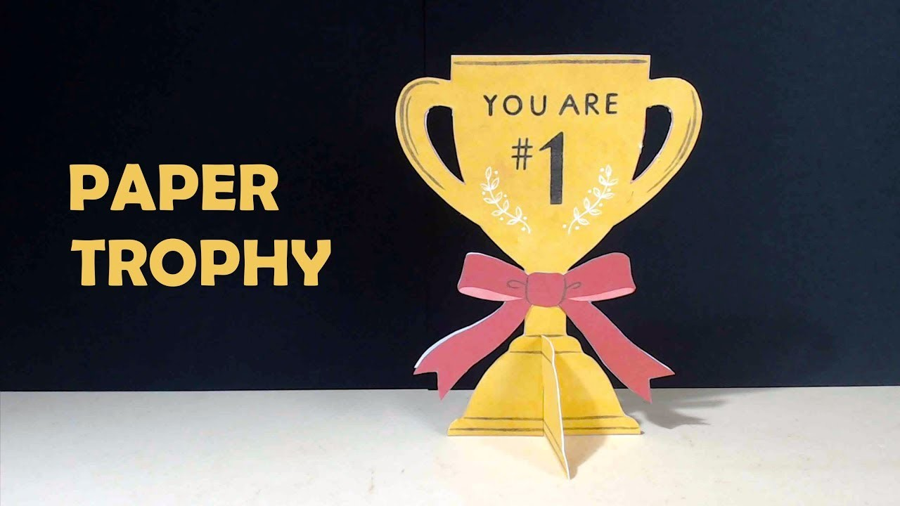 How to make a Paper Trophy   Very Easy DIY Paper Trophy   Trophy for Mom.Dad.Teacher   Paper Culture