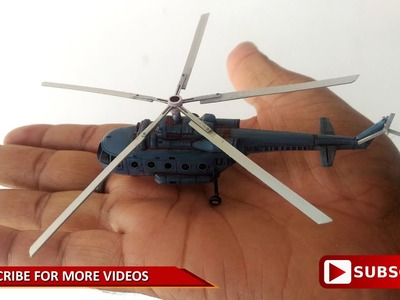 How to make DIY mini Helicopter By paper. PART -1