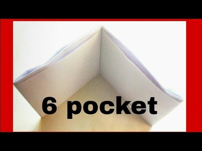 How to make  easy paper wallet with 6 pocket. DIY easy paper wallet