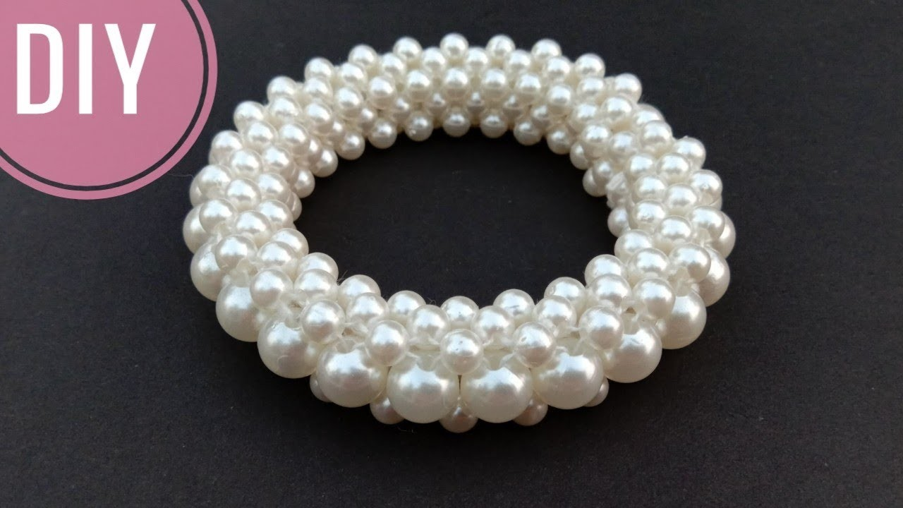 How to make pearl bracelets or bangles. Designer bangles.DIY. useful & easy