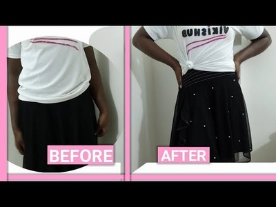 HOW TO STITCH BEADS ON CLOTHES.BLOUSE.T-SHIRT.DRESS( DIY PEARL DESIGN)