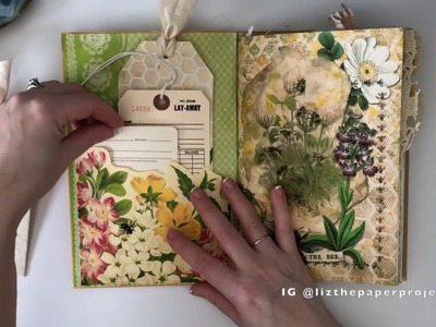 Junk Journal Bee Keeper - paper sounds version - Calico Collage DT