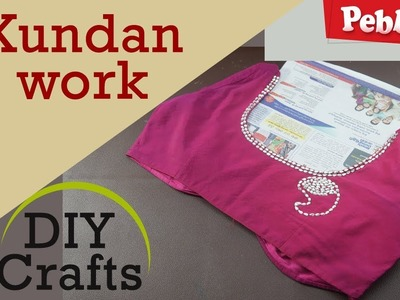 Kundan work on blouse | DIY crafts in English