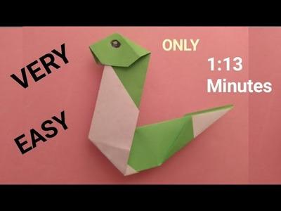 Make origami snake - paper snake easy - easy origami tutorial