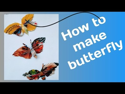 Making paper butterfly.