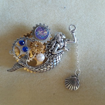 Mermaid brooch