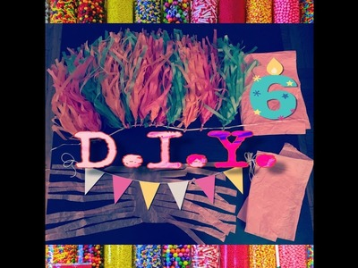 MOMTIP_TUESDAY!!! ????D.I.Y. BIRTHDAY.PARTY DECORATIONS MADE W| GIFT WRAPPING PAPER||