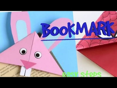 Origami bookmark from paper || at home ||emoji paper crafts