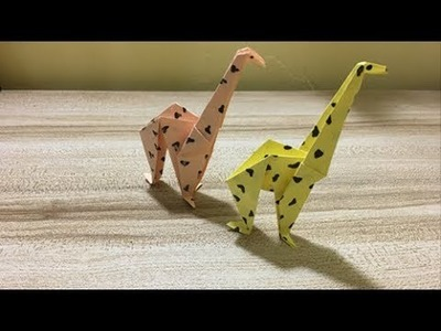 Origami Giraffe | Giraffe Paper Crafts for Kids