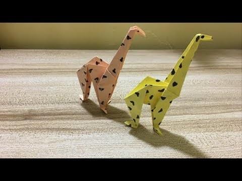Origami Giraffe | Giraffe Paper Crafts for Kids