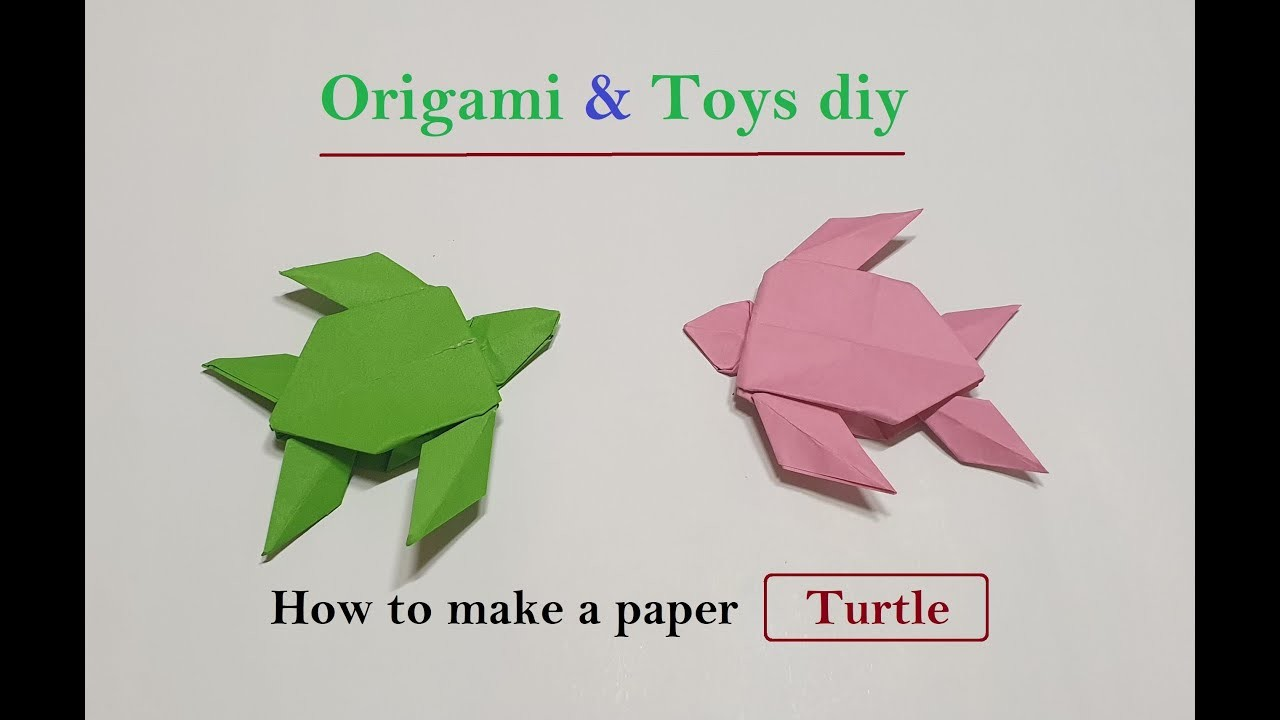Origami Turtle Easy How To Make An Easy Origami Turtle Step By ... | 720x1280