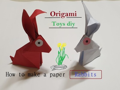 Origami , How to make a paper Rabbits TOYS DIY