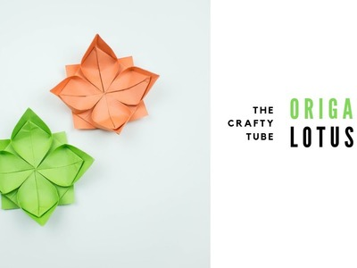 Origami Lotus -  How To Make Origami Lotus - DIY
