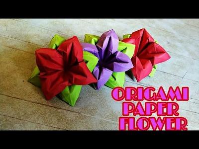 ORIGAMI paper flower ????   Piyu M ????
