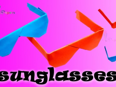 Origami Sunglasses ???? Sunglasses ???? Easy to make ???? Paper Folding Crafts ???? Colour Papers