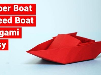 Paper Boat for kids l Speed Boat I  Origami I Tutorials