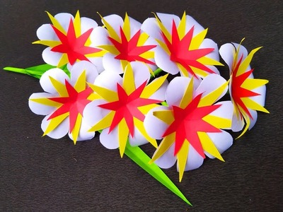 Paper Flower Stick || Paper flower stick making easy and simple method - DIY Paper Flowers Craft