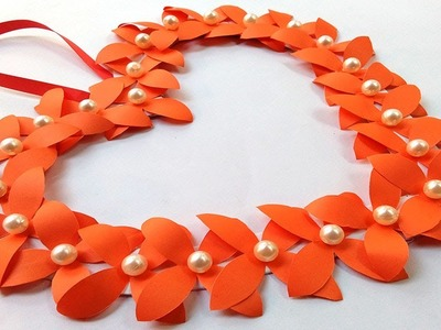 PAPER FLOWER WALL HANGING - Simple and Attractive Paper Flower Wall Hanging Decoration