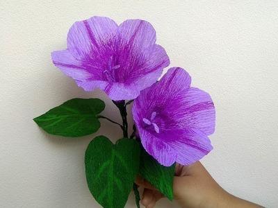 Paper Flowers | Kangkong Flower Making | Crepe paper Crafts