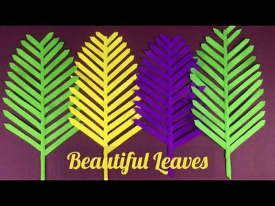 Paper Leaves | Paper Leaf | Paper Crafts | Crafts With Paper
