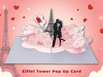 Paper Love Eiffel Tower Love Pop Up Greeting Card