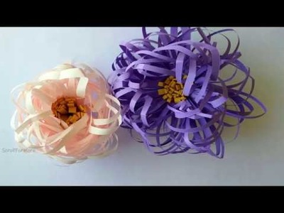 Quick and Easy Paper Flower  For Home Decor | crafts under 5 Mins | DIY Paper Flower Decoration