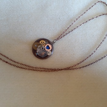 Steampunk inspired pendant necklace