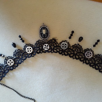 Steampunk statement necklace