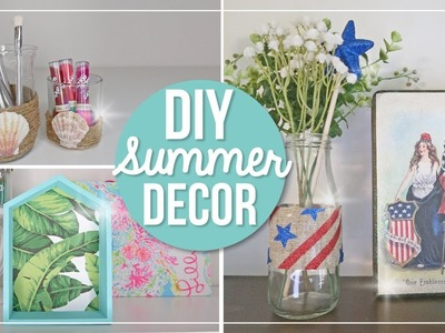 Summer DIY Home Decor Ideas | Beach & Patriotic 4th of July Easy DIY Crafts | Dollar Tree Decor