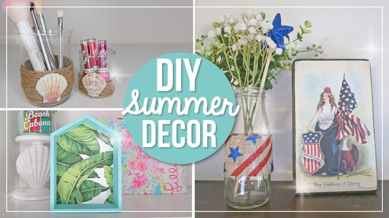 Summer DIY Home Decor Ideas   Beach & Patriotic 4th of July Easy DIY Crafts   Dollar Tree Decor