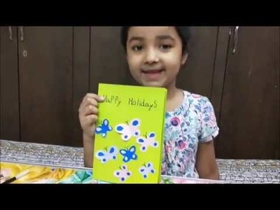 Summer Holiday Card | Card Making - Paper cutting | Easy and simple Card Making by kids