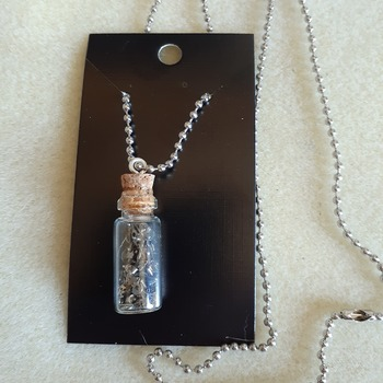 Time in a bottle charm necklaces