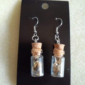 Time in a bottle earrings