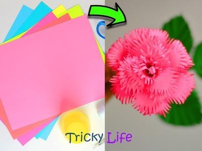 UNIQUE PAPER ROSE | PAPER CRAFTS |TRICKY LIFE |