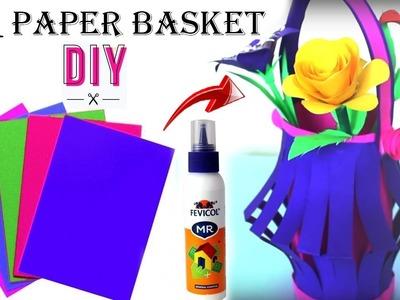Unique Way To Make Paper Basket || Easy paper basket making || DIY Paper crafts for kids